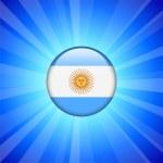 Argentina Flag Icon on Internet Button — Stock Vector