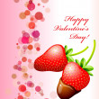 Happy Valentine's Day Card — Vettoriali Stock