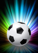 Soccer Ball on Abstract Spectrum Background — Stock Vector