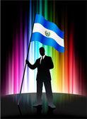 萨尔瓦多国旗与抽象谱出让的商人 — 图库矢量图片