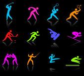Kolekcja ikona competative i olympic Sport — Wektor stockowy
