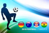 мир футбол футбол группа d на абстрактный цвет фона — Cтоковый вектор
