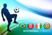 World Soccer Football Group G on Abstract Color Background — Stock Vector