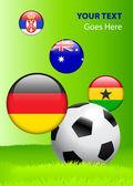 Grupo de 2010 copa do mundo d — Vetorial Stock