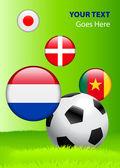 Coupe du monde 2010 groupe e — Vecteur