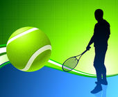 Tennis Player on Abstract Background — Cтоковый вектор