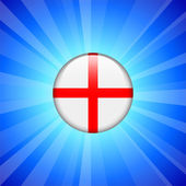 England Flag Icon on Internet Button — 图库矢量图片