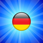 Germany Flag Icon on Internet Button — Stock Vector