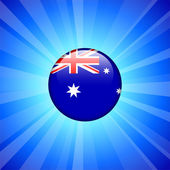 Australia Flag Icon on Internet Button — 图库矢量图片