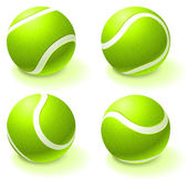 Tennis Ball Collection — Stock Vector