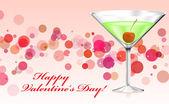 Mutlu sevgililer günü kartı — Stok Vektör