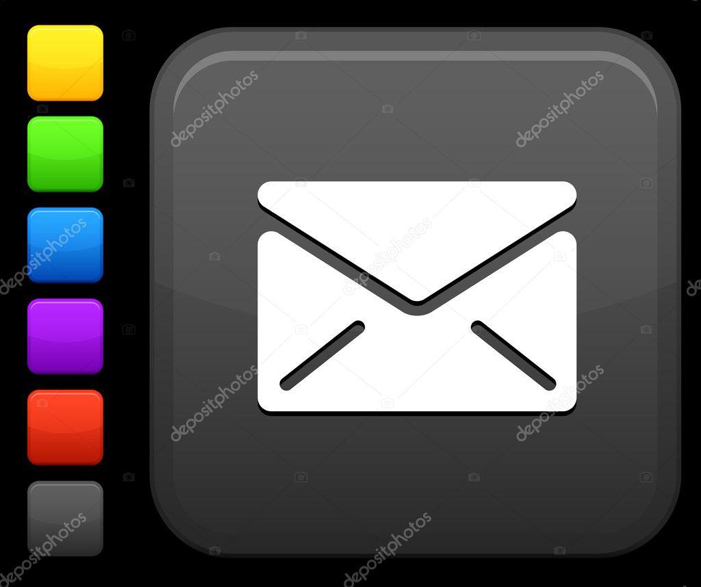 关于互联网的方形按钮邮件图标