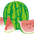 Tasty water-melon — Stock Vector