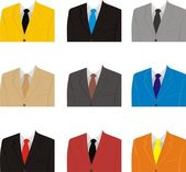 A man's suit — Stock Vector