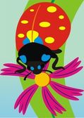 The big ladybird — Stock Vector