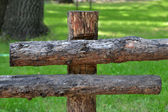 A wooden fence — Stock Photo