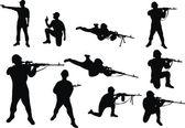 Con l'arma — Vettoriale Stock