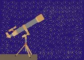 Poderoso telescopio — Vector de stock