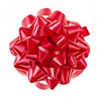 Red Christmas gift bow — Stock Photo
