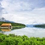 Boathouse on mountain lake — Stock Photo #6648884