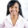 Customer service and support representative with headset — Stock Photo #6648913