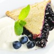Blueberry pie slice — Stock Photo #6648962