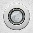 Pot light in ceiling tile — Stock Photo