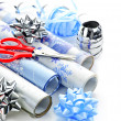 Christmas wrapping paper rolls — Stock Photo #6649512