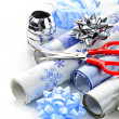 Christmas wrapping paper rolls — Stock Photo #6649517