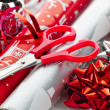 Christmas wrapping paper rolls — Stock Photo #6649529