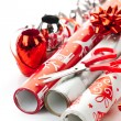 Christmas wrapping paper rolls — Stock Photo #6649550
