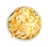 Bowl of coleslaw from above — Stock Photo