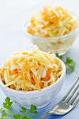 Bowls of coleslaw — Stock Photo