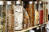 Traditional Chinese herbal medicines — Stock Photo