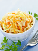 Bowl of coleslaw — Stock Photo