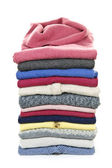 Stack of sweaters — Stock Photo