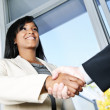 Стоковое фото: Business woman shaking hands
