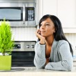 Thoughtful woman in kitchen — Stock Photo #6651207