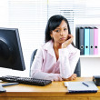 Royalty-Free Stock Photo: Angry businesswoman at desk