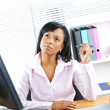 Black businesswoman working at desk — Stock Photo #6651667