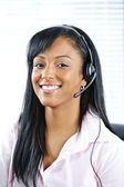 Customer service and support representative with headset — Stock Photo