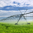 Irrigation equipment on farm field - Foto de Stock