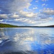 Lake reflecting sky — Stock Photo