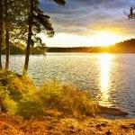 Sunset over lake — Stock Photo