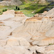 Badlands in Alberta, Canada - Stock Photo