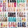 Acrylic fingernails on display — Stockfoto