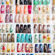 Acrylic fingernails on display - Stock Photo