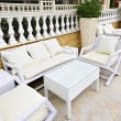 Patio furniture outdoor — Stockfoto