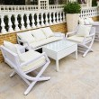 Patio furniture outdoor — Stock Photo
