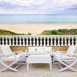 Patio with beach view — Stock Photo #6696748